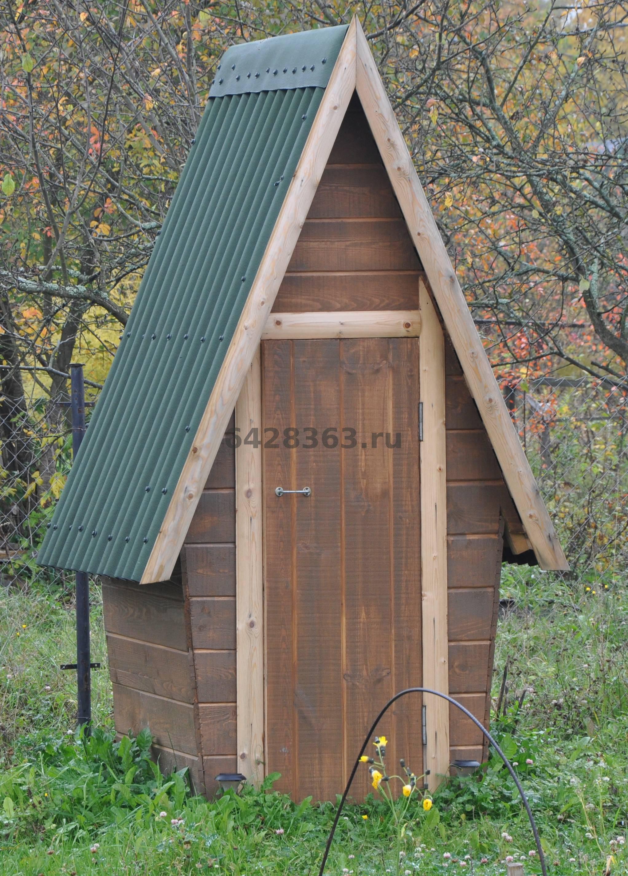 Деревянные туалеты для дачи своими руками чертежи